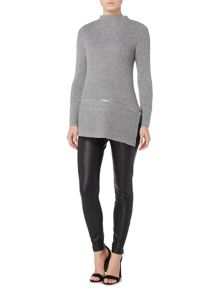 Gray & Willow Alba asymmetric zip knit