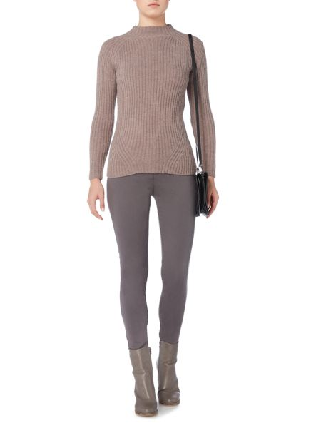 Gray & Willow Elske essential rib fashioned funnel neck jumper