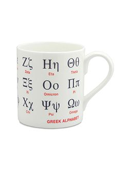 Large Greek Alphabet Mug