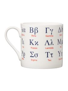McLaggan Large Greek Alphabet Mug