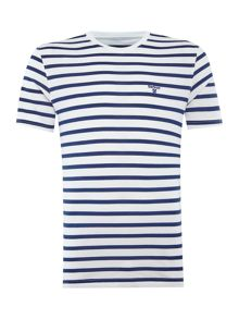 Barbour Printed stripe tshirt