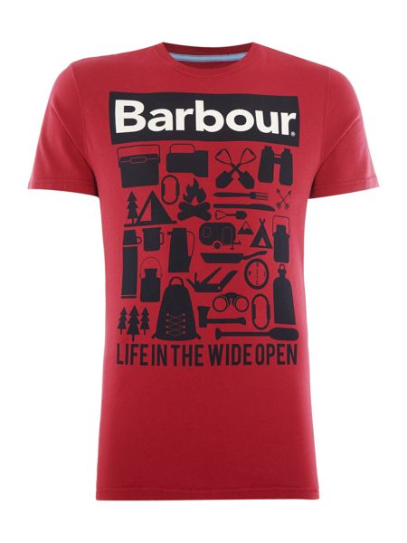 Barbour Life in the wide open print tshirt