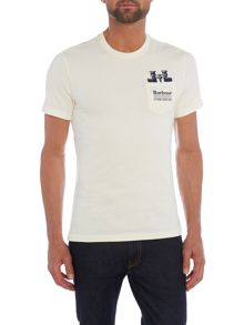 Barbour Binoculars pocket print tshirt