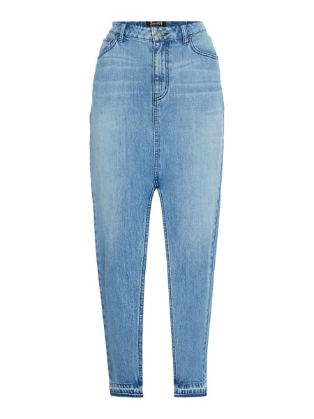 Bardot Denim Pencil with Split Skirt