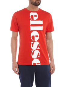 Ellesse Regular fit vertical logo printed t shirt