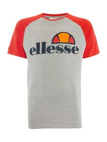 Ellesse Regular fit contrast sleeve logo t shirt