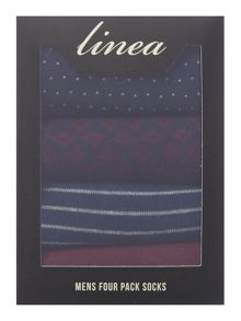 Linea 4 Pack Burgundy Geo Box Set