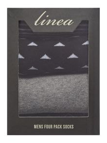 Linea 4 Pack Navy Zig Zag Box Set