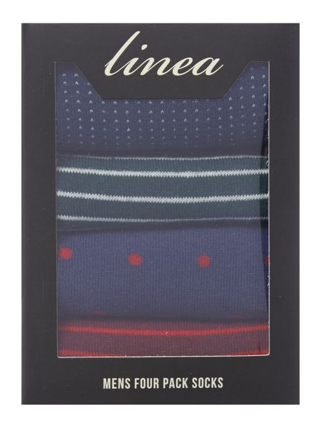 Linea 4 Pack Green/Red Stripe Box Set