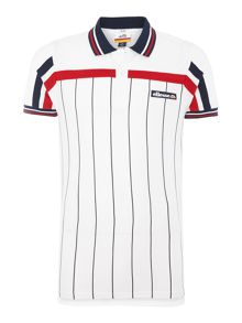 Ellesse Regular fit vertical stripe logo polo shirt