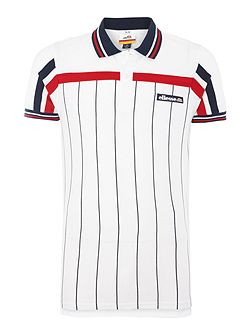 Regular fit vertical stripe logo polo shirt