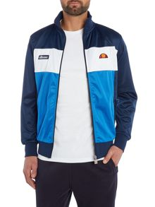 Ellesse Funnel neck block panel zip track jacket