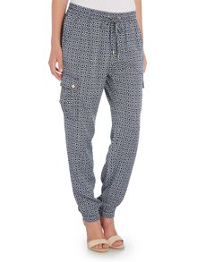 Michael Kors Denim Cargo Track Pant Trousers