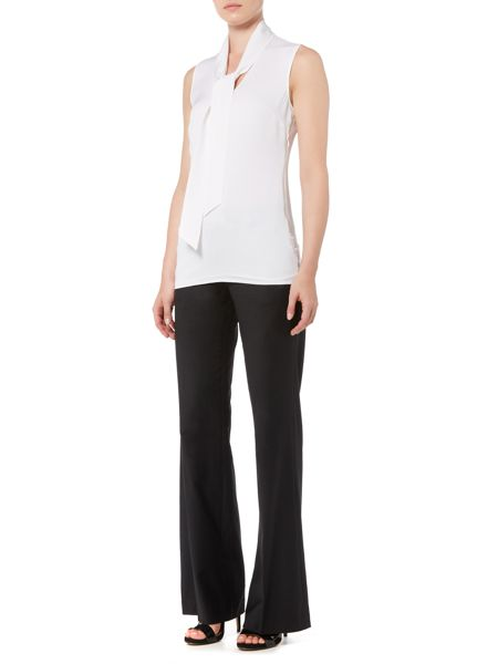 Michael Kors Tie Neckline Sleeveless Top
