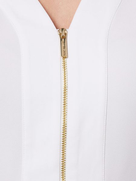 Michael Kors V Neck Zip Top