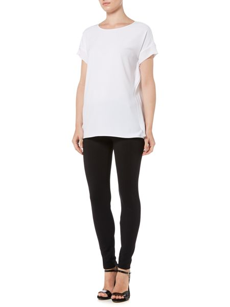 Michael Kors Short Sleeve Scoop Neck Rib Top