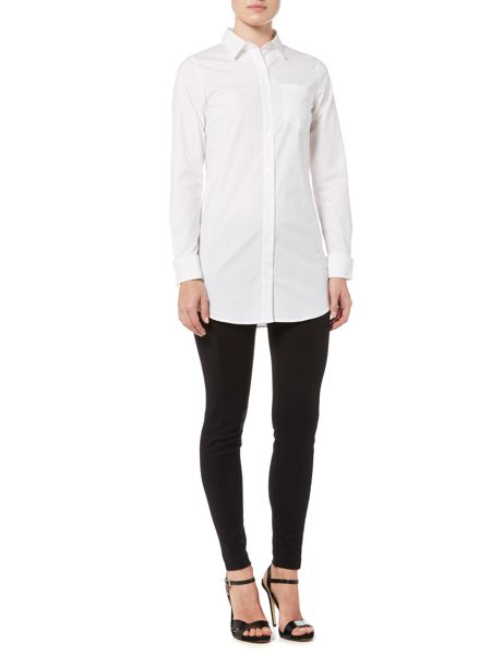 Michael Kors French Cuff Long Sleeve Top