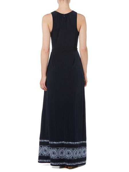 Michael Kors Sleeveless Border Maxi Dress