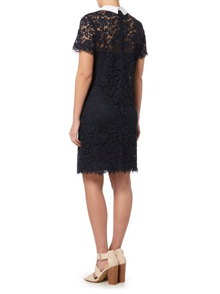 Michael Kors Short Sleeved Collared Lace Dress
