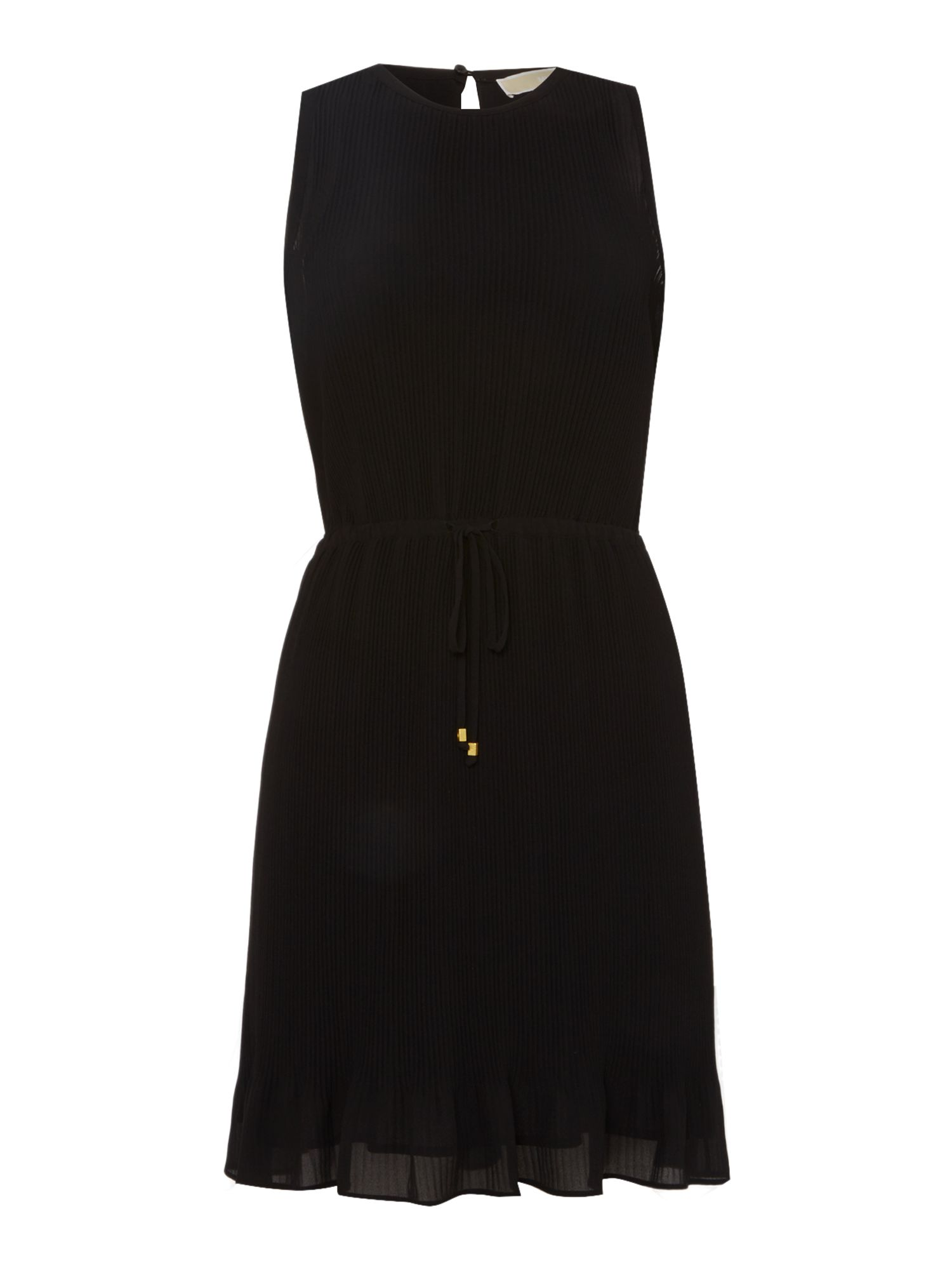Michael Kors Sleeveless Pleated Dress, Black