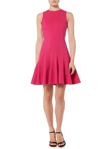 Michael Kors Sleeveless Seamed Flare Dress