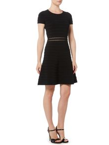 Michael Kors Short Sleeved Waisted Skater Dress