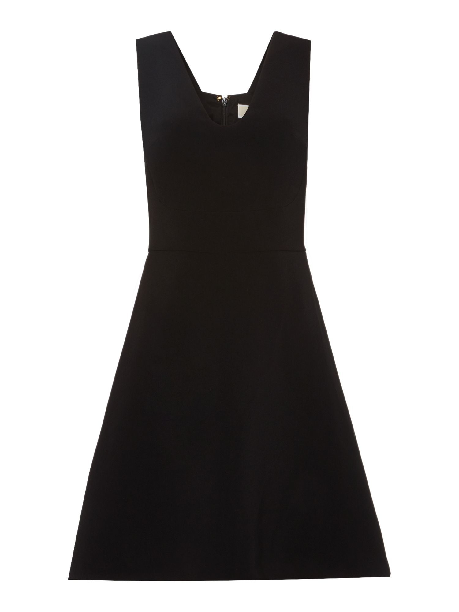 Michael Kors Sleeveless V Neck Pinafore Dress, Black