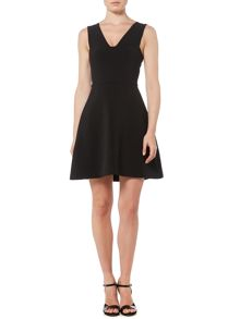 Michael Kors Sleeveless V Neck Pinafore Dress