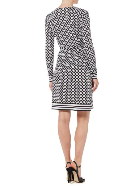 Michael Kors Long Sleeved Border Wrap Dress
