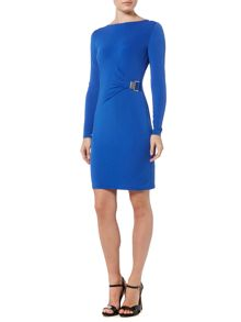 Michael Kors Long Sleeve Pleat Drape Dress