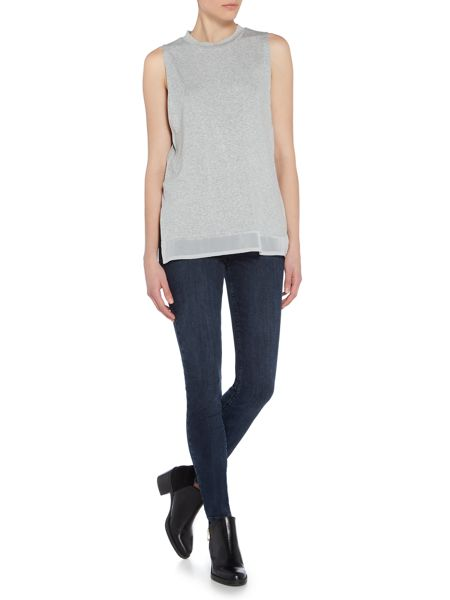 Label Lab High neck chiffon sleevless top