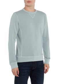 Hugo Boss Wheelo basic crew neck sweat top
