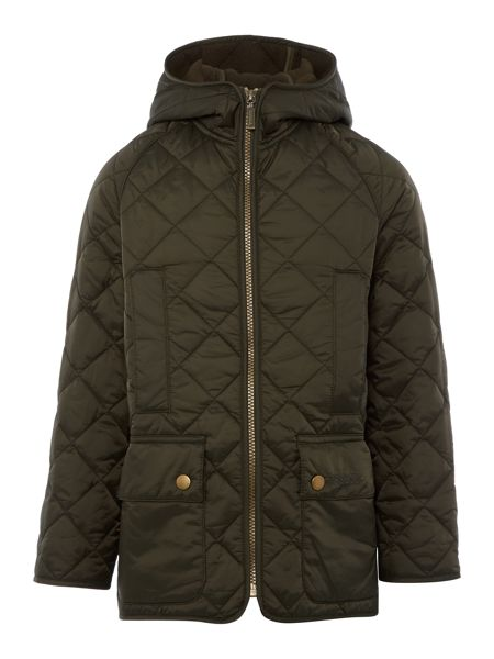 Barbour Boys Border Liddesdale Quilted Jacket with Hood
