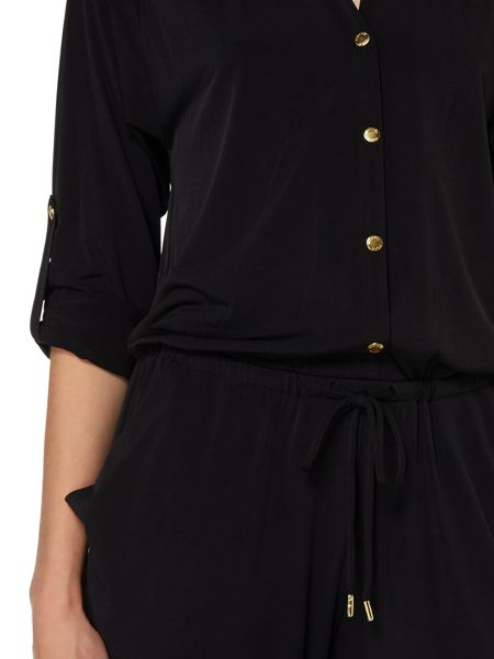 Michael Kors Long Sleeved Button Up Jumpsuit