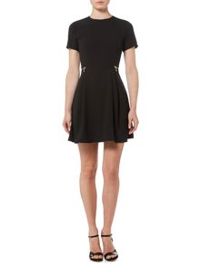 Michael Kors Short Sleeve Zipper Waist Dress