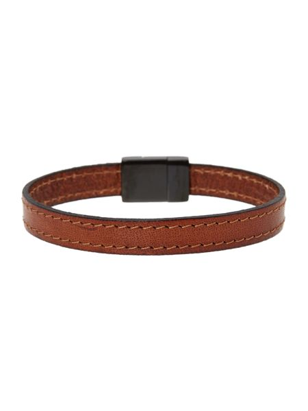 Ted Baker Bus Stitched Leather Bracelet