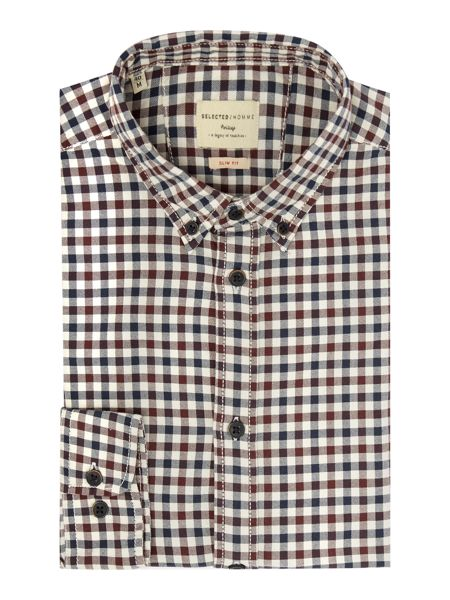 Selected Homme Gingham Oxford Shirt