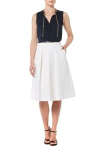 Michael Kors ALine Pocket Pleat Skirt