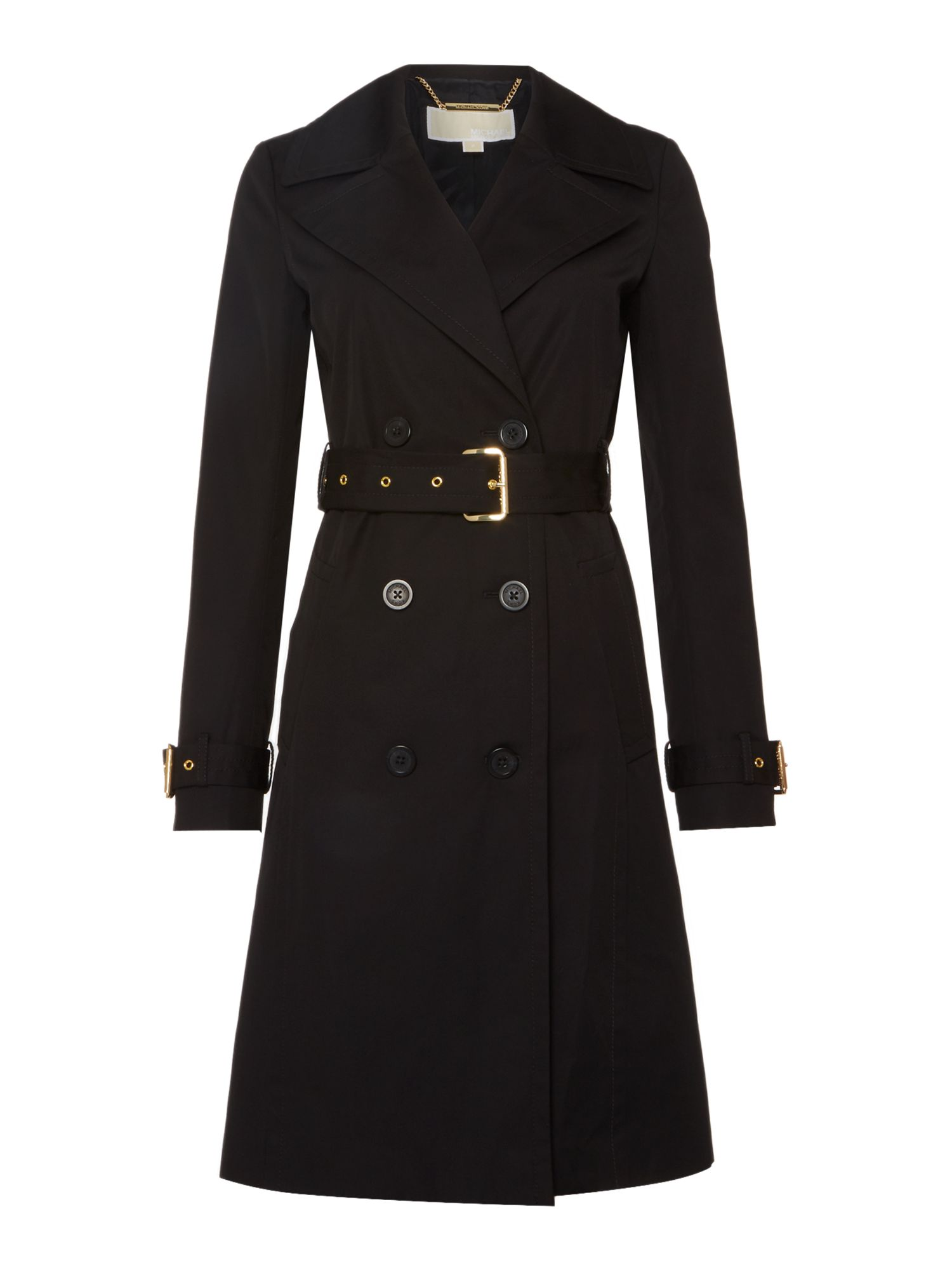 Michael Kors Fit And Flare Trench Coat, Black