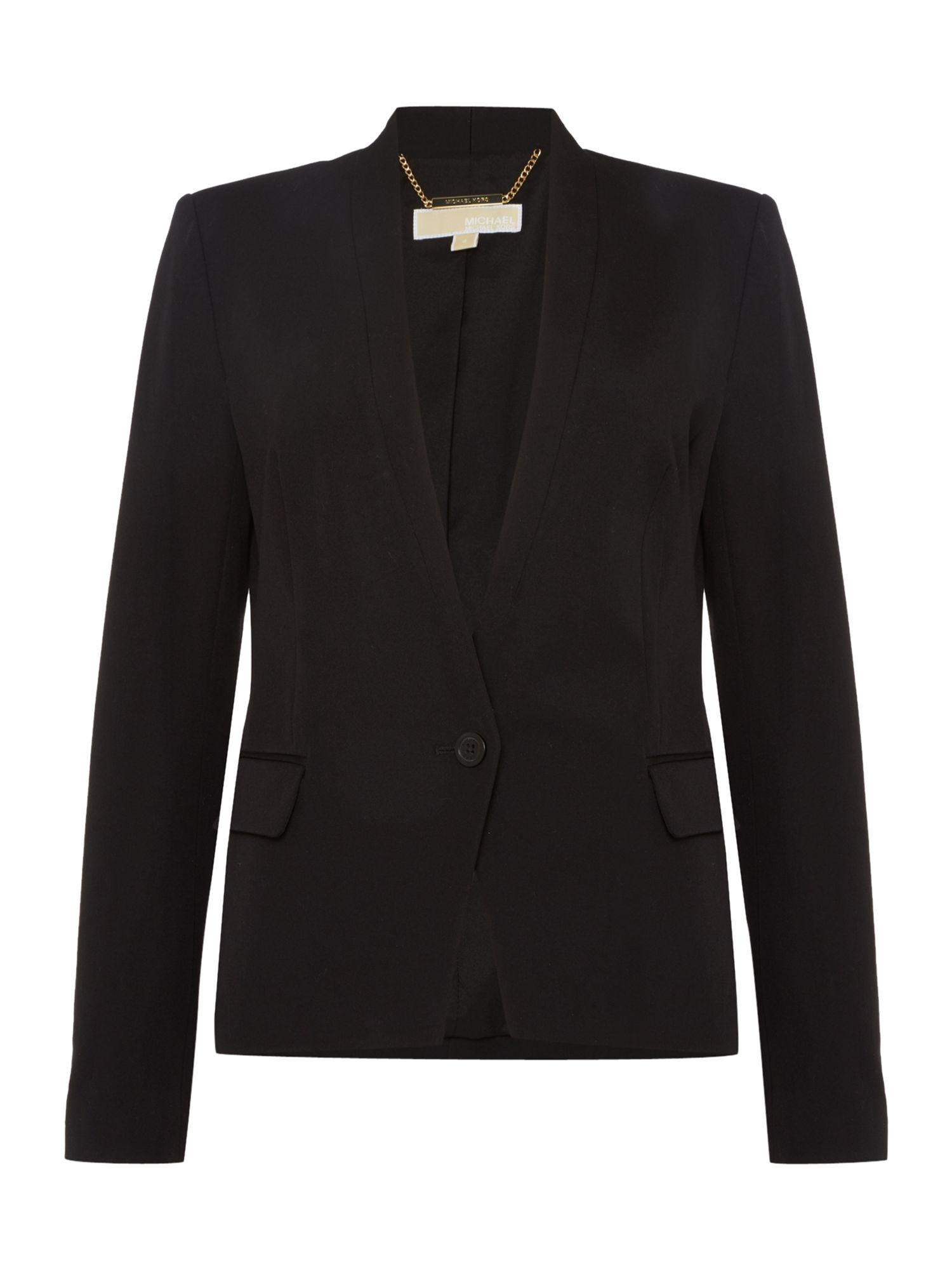 Michael Kors V Neck Blazer, Black