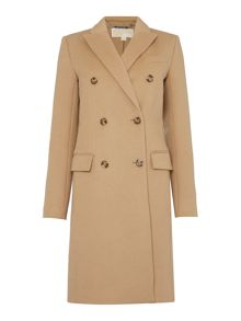 Michael Kors Long Sleeved Double Breasted Tailored Coat
