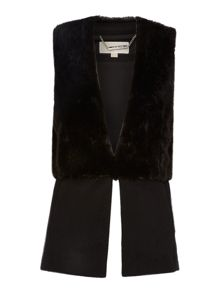 Michael Kors Fitted Faux Fur Waistcoat