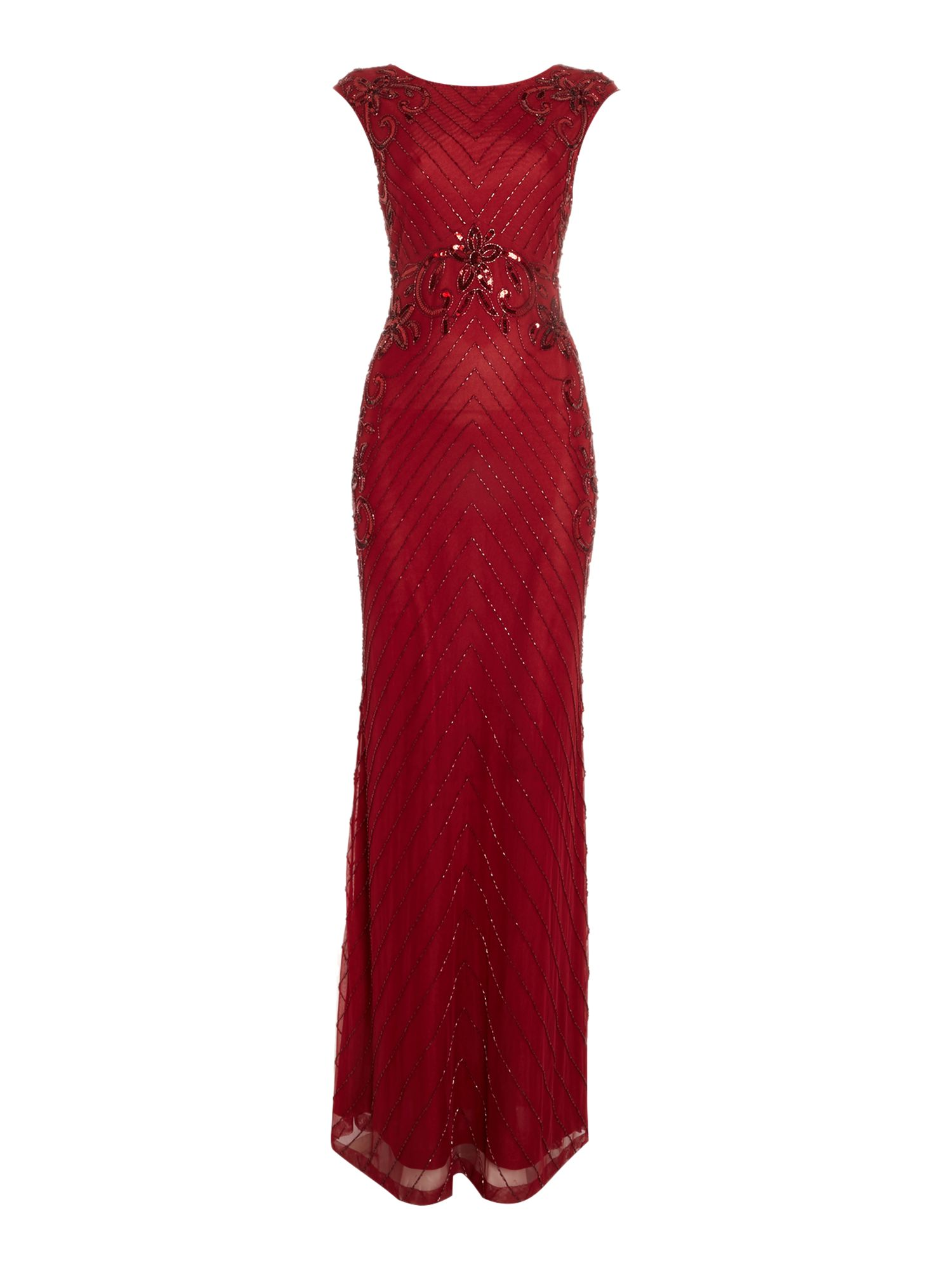 Shubette Shubette Floral sequin gown, Red