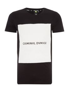 Criminal Damage Box regular fit square logo printed t shirt