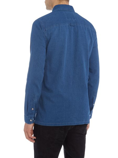 Jack & Jones Zip Through Long Sleeve Shirt