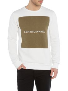 Criminal Damage Box square logo sweatshirt