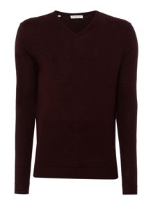 Selected Homme Tower Merino V-Neck Knit