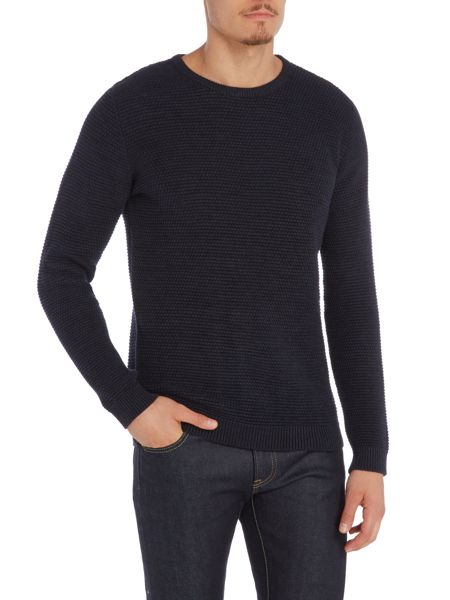 Selected Homme Vince Bubble Textured Crew Neck Knit