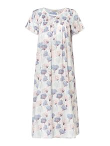 Nora Rose Woven floral short sleeve nightdress