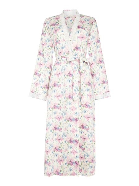 Nora Rose Woven floral robe